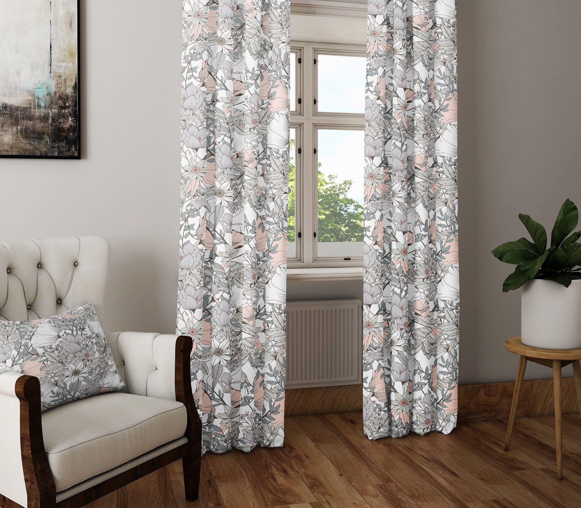Napearl Modern Decorative Curtains Jacquard Gray Curtains Window