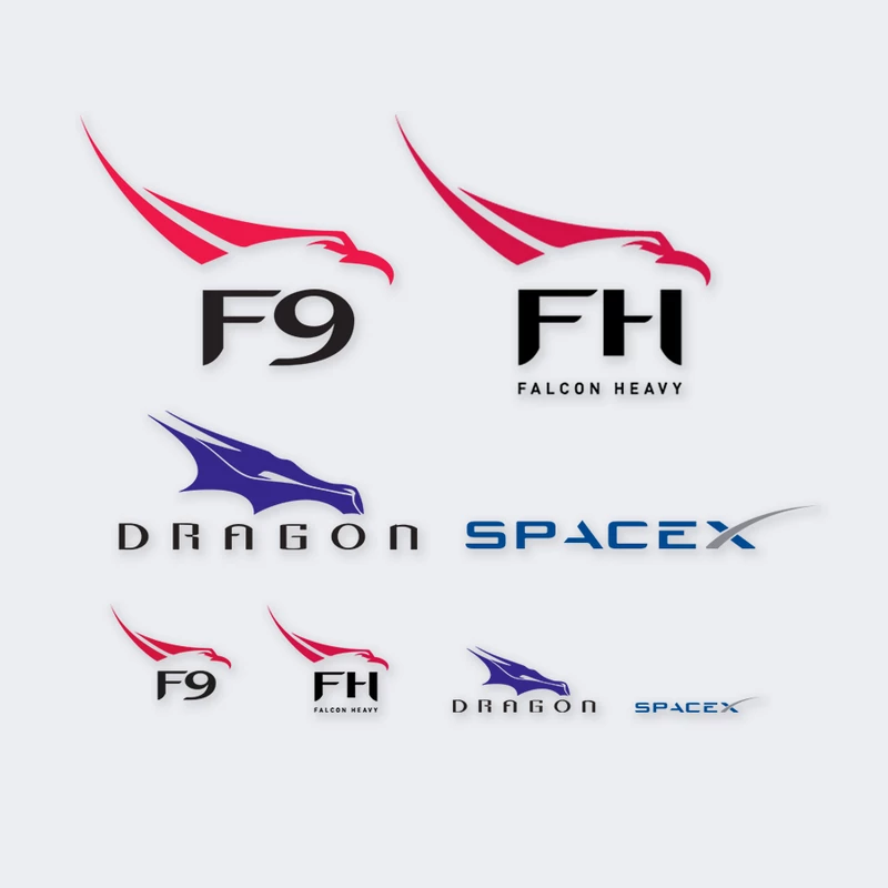 Spacex Assorted Decal Pack Spacex Store Spacex Spacex Dragon Decals
