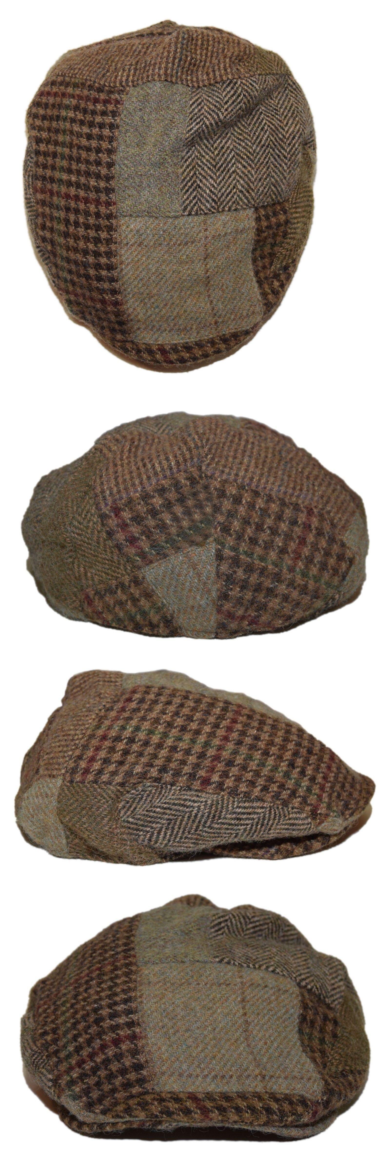 16c656a5570 Hats 45230  Polo Ralph Lauren Mens Patchwork Plaid Lambs Wool Newsboy Hat  Cap Brown Green