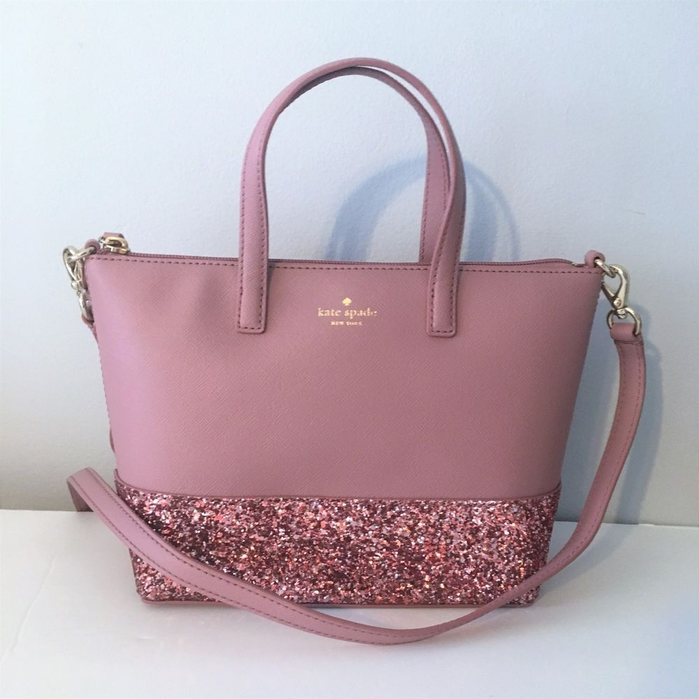 e9e11661edaf KATE SPADE Ina Crossbody Glitter Satchel ~ Dusty Peony NWT Greta Court  Handbag #katespade #Crossbody #purseskatespade