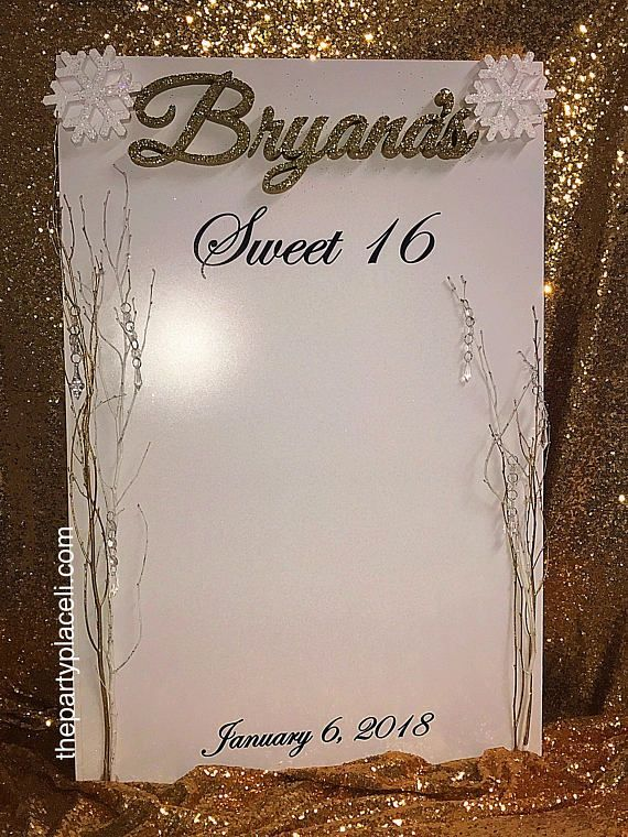 24x36 Winter Wonderland Sign in Board for Quince, Sweet 16 or Bat Mitzvah