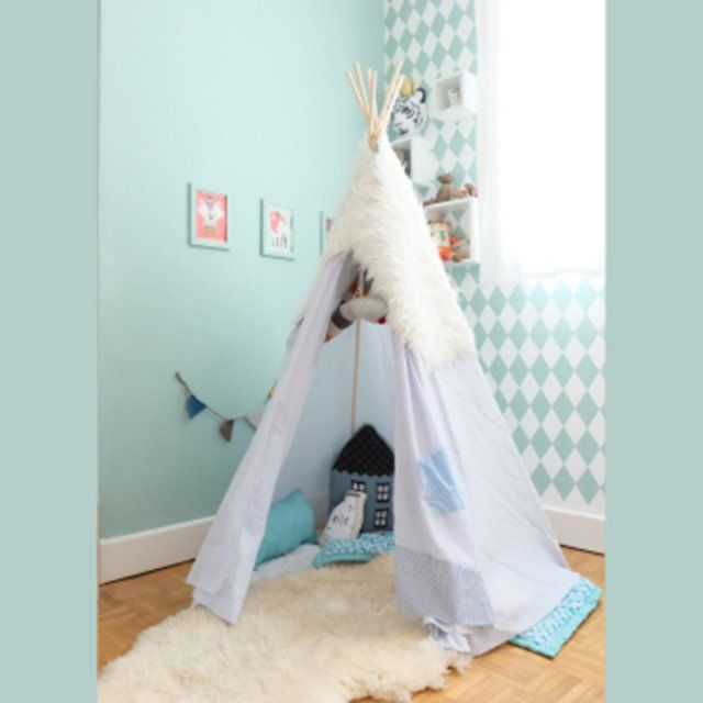 12 id es pour fabriquer un tipi deco objet pinterest tipi. Black Bedroom Furniture Sets. Home Design Ideas