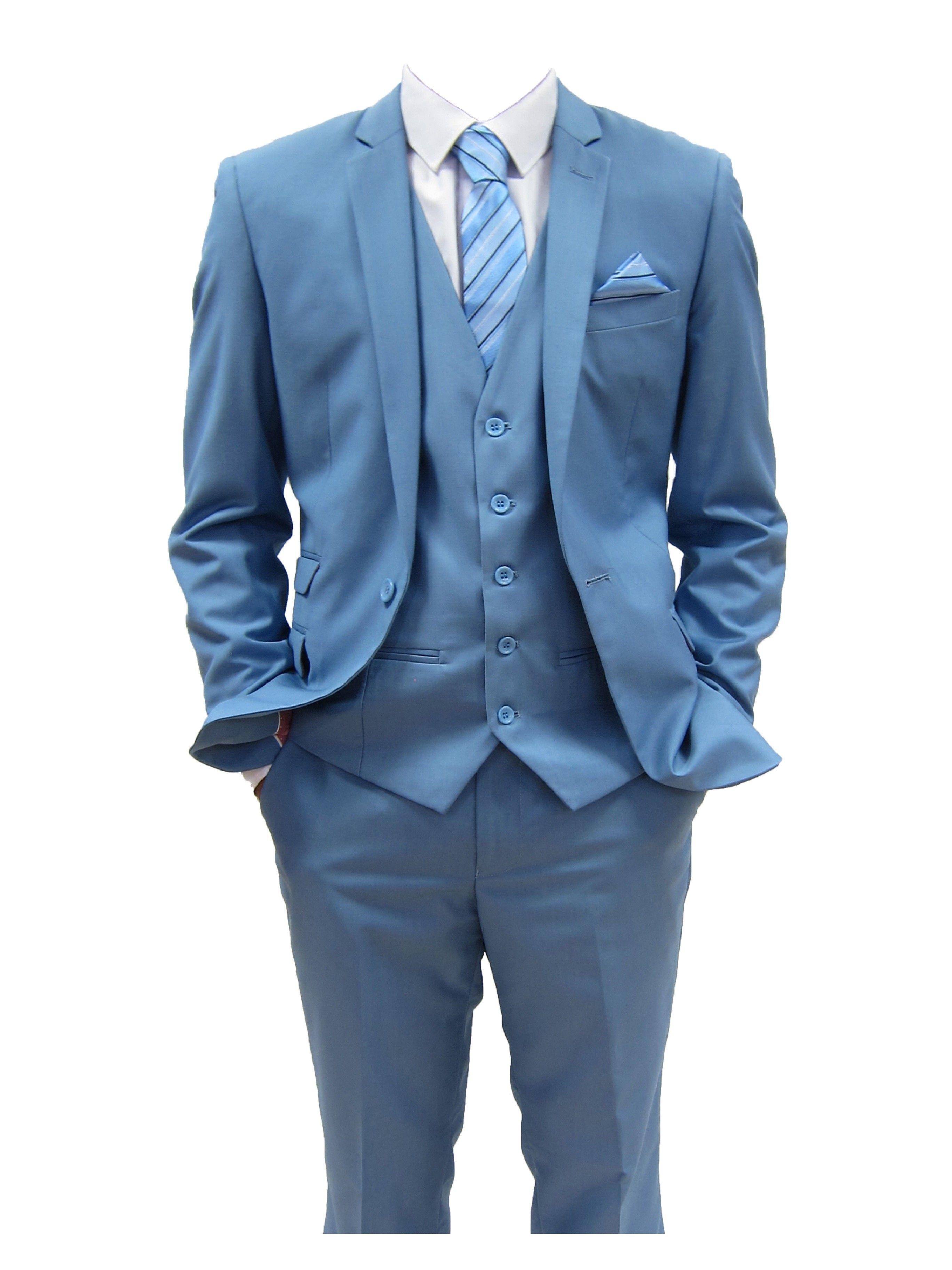 Mens designer Sky Blue Three Piece Suit (Rex) | Clothes | Pinterest ...