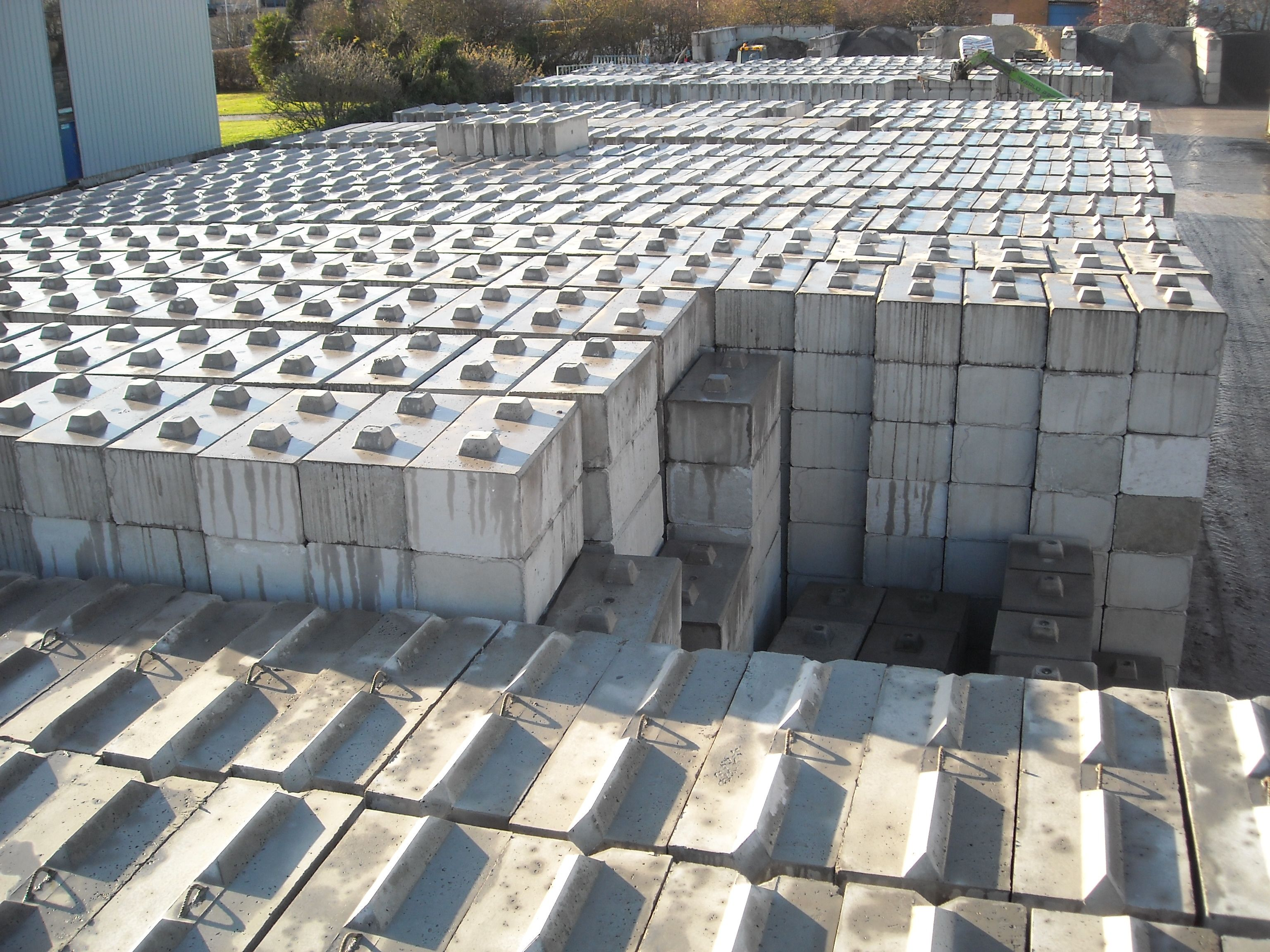 Interlocking Duo Concrete Blocks Lego Stye In Stockyard Concrete Blocks Architecture Plan Precast Concrete