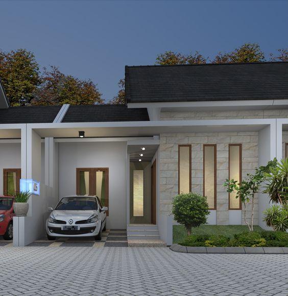 Fachadas modernas fachadas modernas con piedra fachadas - Fachadas de casas pequenas de un piso ...