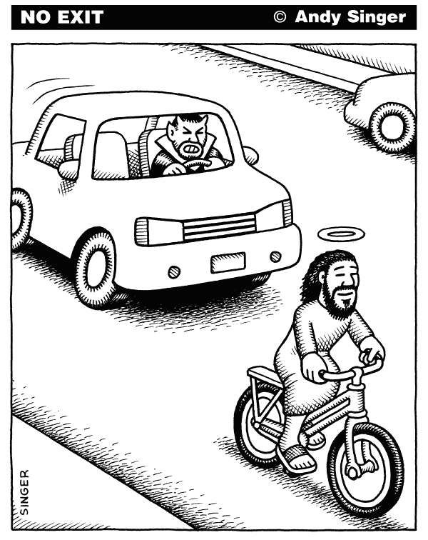 #juxtaposition #good #evil #car #Jesus #Satan