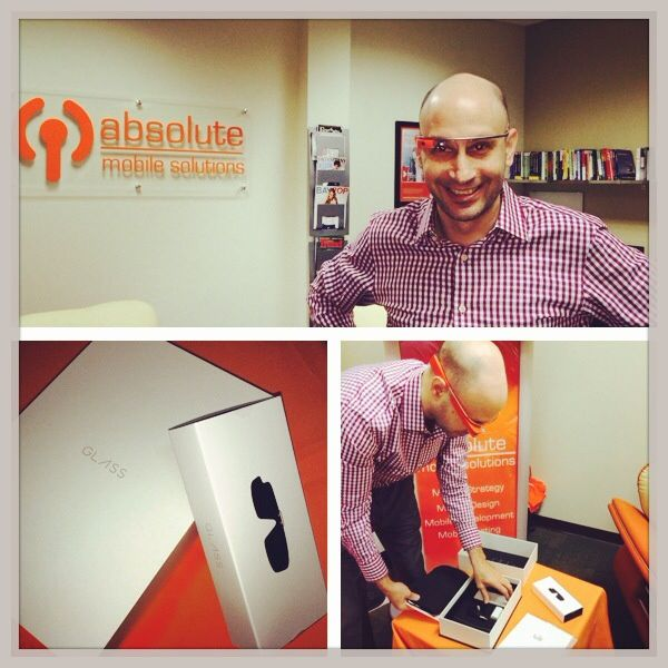 Alfred's new Google Glass- Orange Google Glass, Absolute Mobile Solutions
