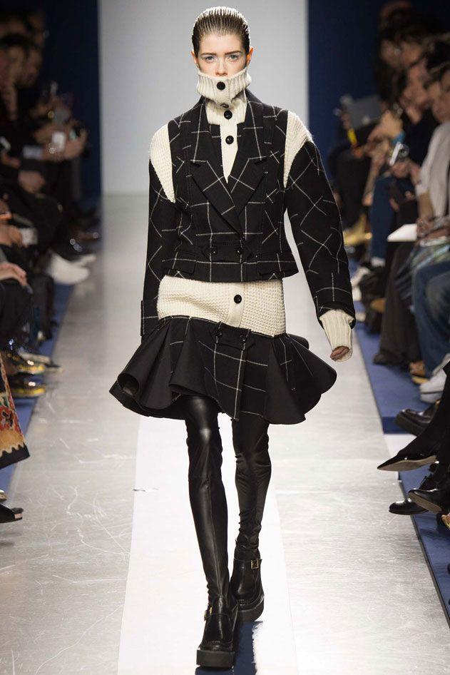 Paris Fashion week . SACAI . Oversize tailoring from masculine proportions * Design Catwalk