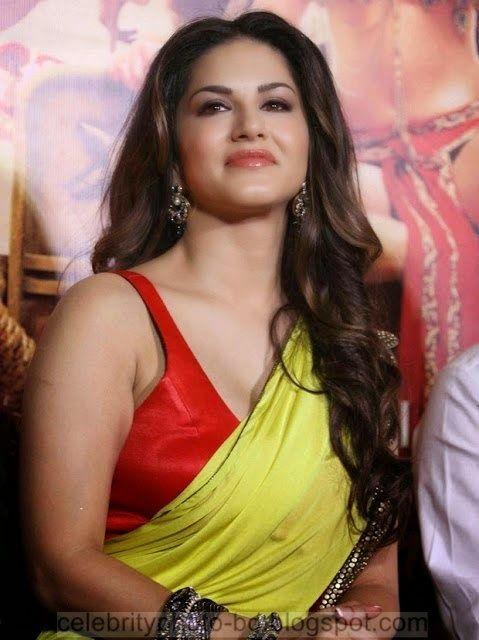 Bollywood Actress Sunny Leone Saree Stills Attends At Ek Paheli