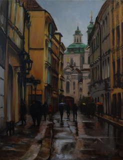 Jonelle Summerfield Oil Paintings: A Street in Prague