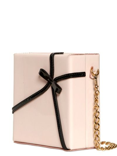 DSQUARED - ROSEDALE PATENT BOW LEATHER CLUTCH - LUISAVIAROMA - FLORENCE