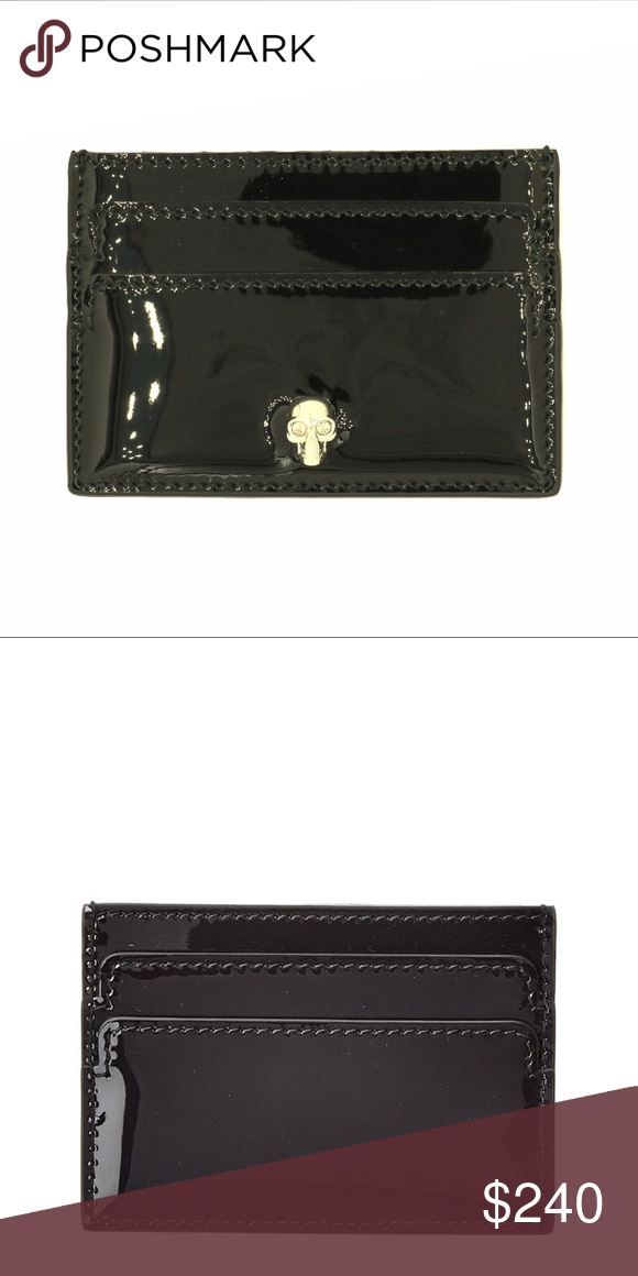 buy online dd8de dd6a5 Alexander McQueen Tone Skull Card Holder Wallet Made in ...