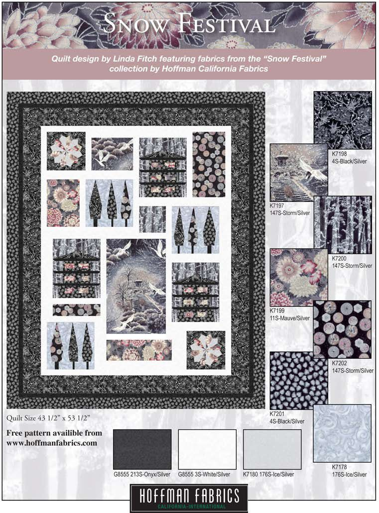 Free quilt pattern using the Snow Festival collection by Hoffman ... : hoffman free quilt patterns - Adamdwight.com