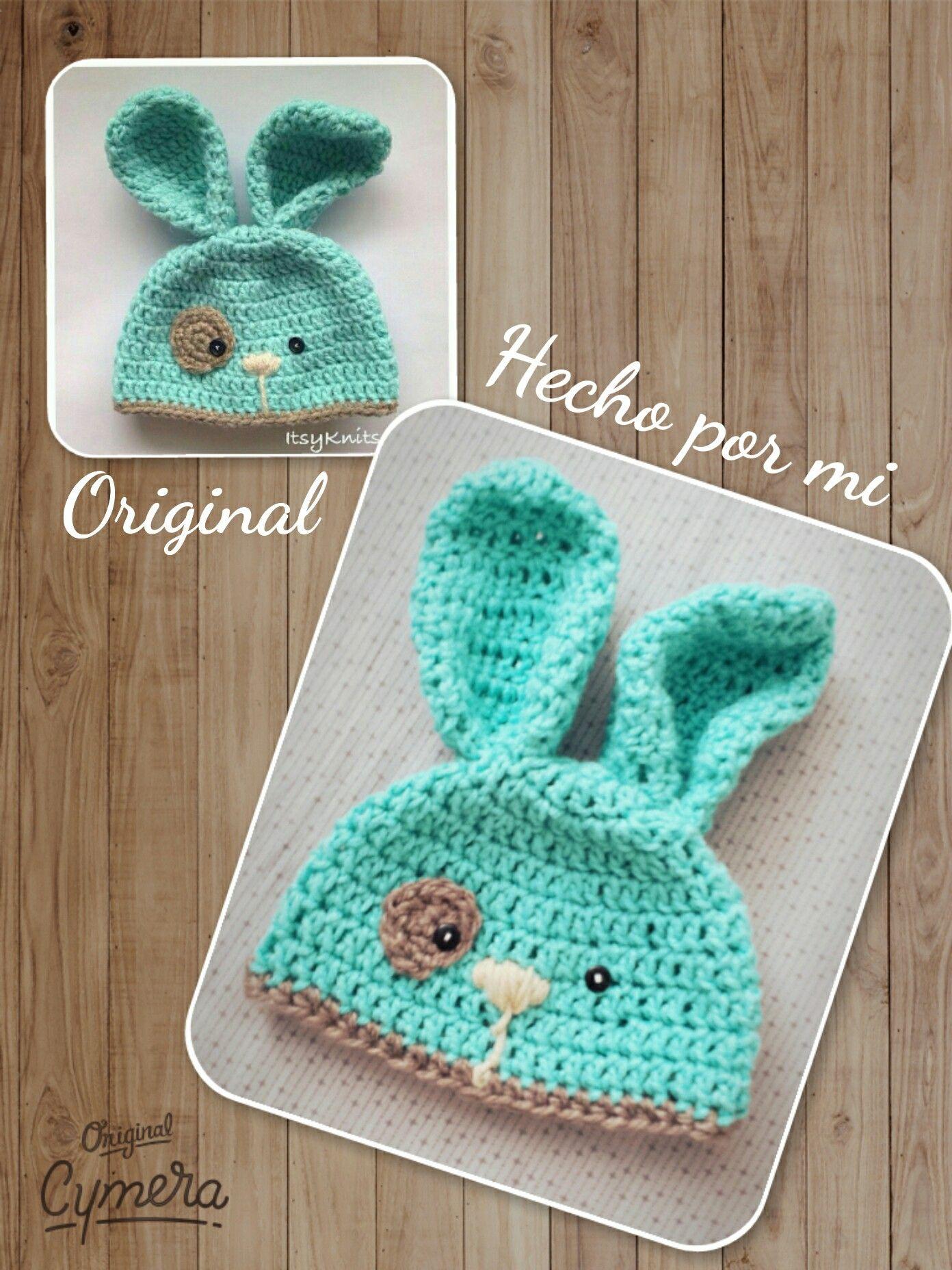 Gorro conejo crochet   gorros   Pinterest