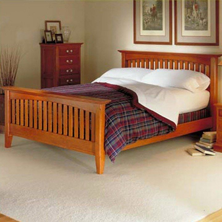 Plan Dp 00424 Arts Crafts Bed Woodworking Plan In 2020 Bed Woodworking Plans Mission Style Bedroom Furniture Mission Style Beds