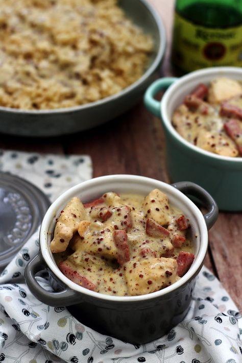 Poulet au cidre, bacon et moutarde à l'ancienne | Recettes ...