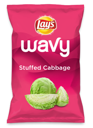Wouldn't Stuffed Cabbage be yummy as a chip? Lay's Do Us A Flavor is back, and the search is on for the yummiest flavor idea. Create a flavor, choose a chip and you could win $1 million! https://www.dousaflavor.com See Rules.