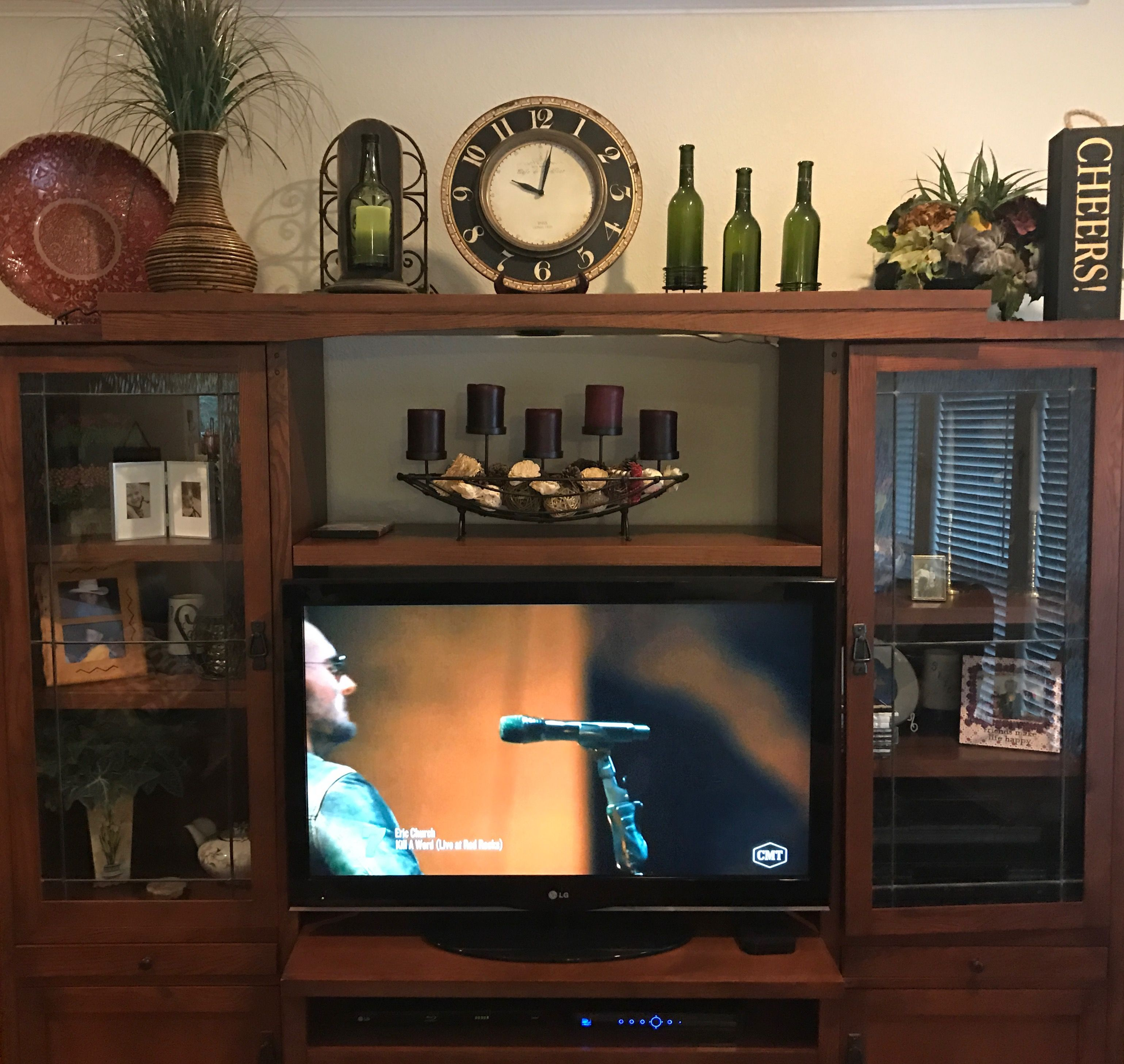 Top of entertainment center (With images) | Home ...