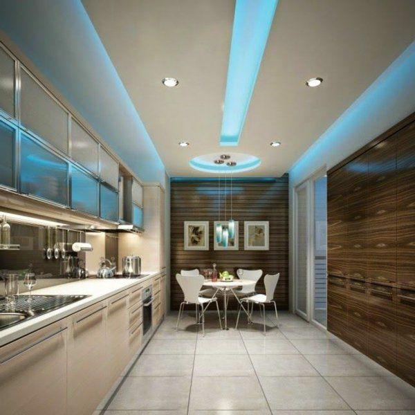 faux plafond suspendu de cuisine moderne