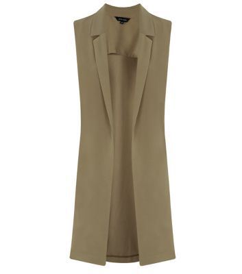 """As this season's number one transitional piece, make the sleeveless duster coat your go-to from day to night.- Simple sleeveless style- Crepe fabric- Open front design- Longline design- Model is 5'8""""/176cm and wears UK 10/EU 38/US 6"""