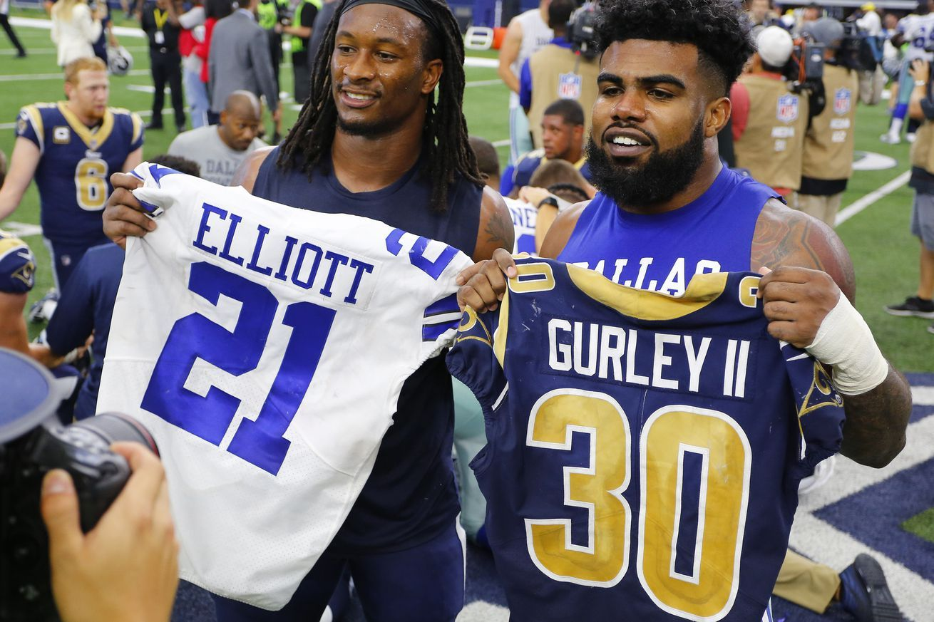Report Ezekiel Elliott Looking For Extension That Would Top Todd Gurleys Four Year 57 5m Deal Nfl News Nfl Update Nfl Ezekiel Elliott Beckham Jr Elliott