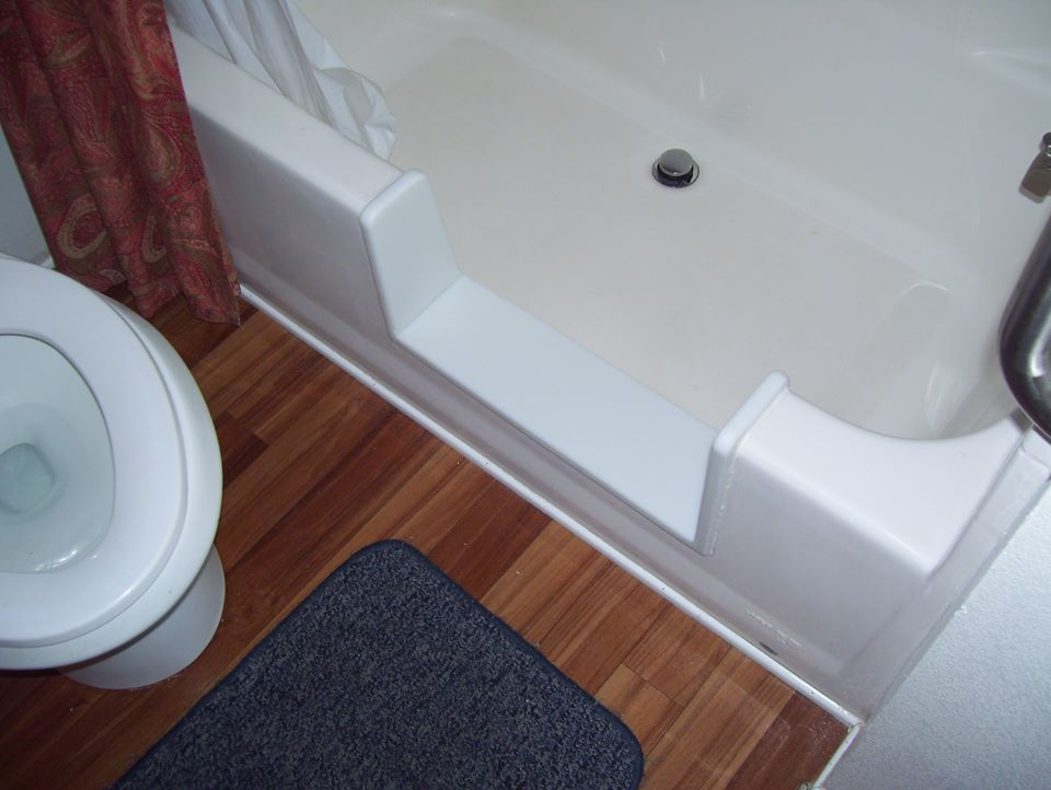 One Of Our Bathtub To Walk In Shower Conversion Inserts Installed In A Mobile