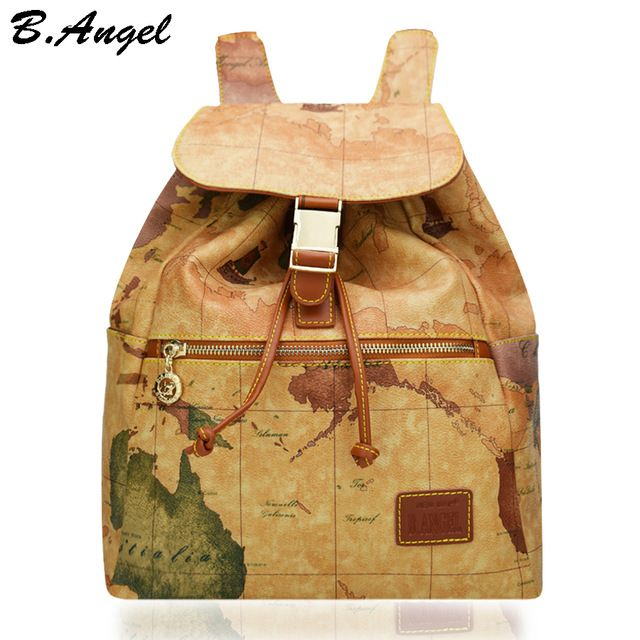 Check lastest price high quality world map backpack special women check lastest price high quality world map backpack special women backpack fashion leather backpack travel backpack just only 3378 with free shipping gumiabroncs Image collections