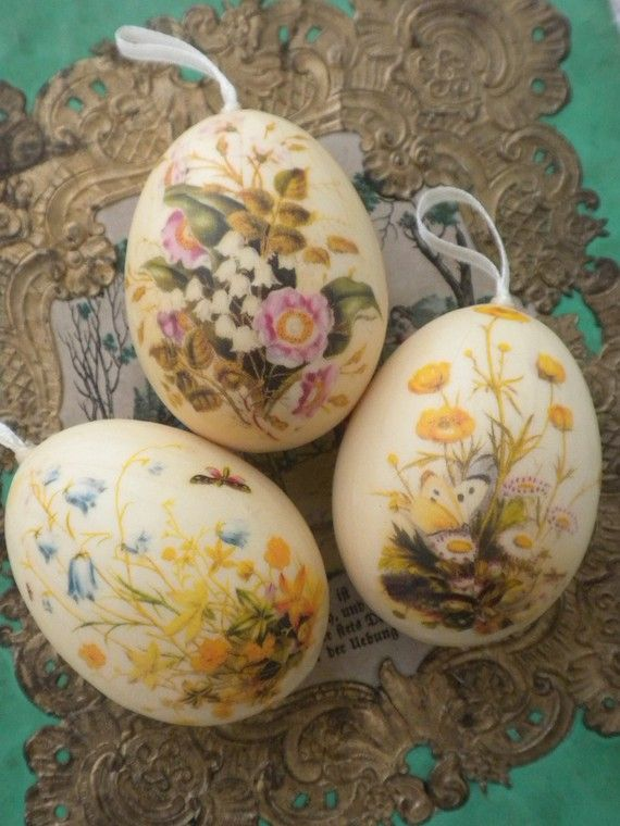 SOLD, Decoupaged Egg Ornaments -Series 4