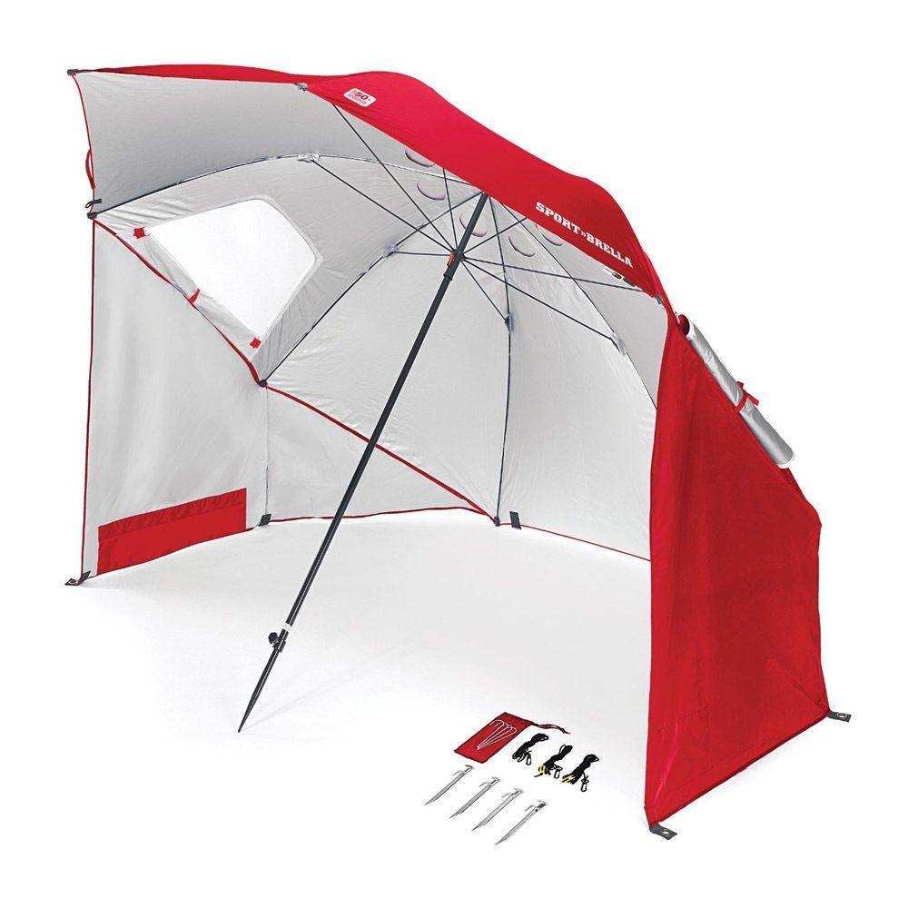 SportBrella Umbrella (Red) Portable Sun and Weather