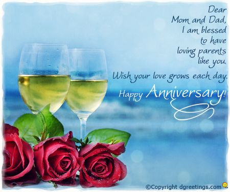 Dgreetings say happy anniversary to your parents with this warm