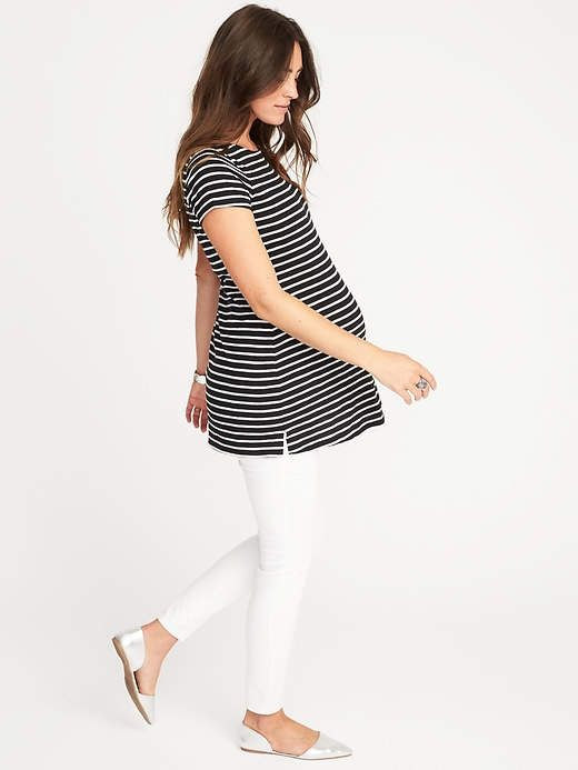 0a96a17ed Old Navy Maternity Relaxed Boat-Neck Top Moda Premama