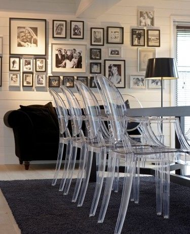 ghost chairs are nice like the photo arrangement. Black Bedroom Furniture Sets. Home Design Ideas