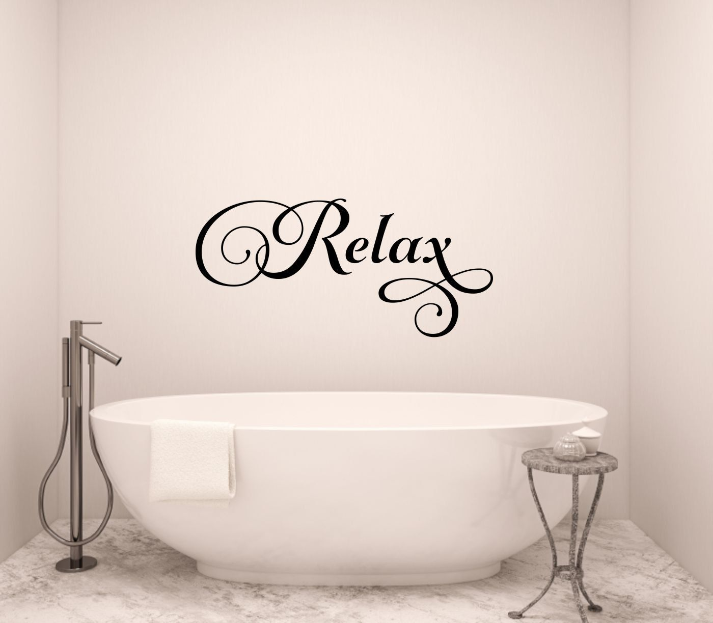 Relax Wall Decal Bathroom Wall Decal Bathroom Vinyl Decal