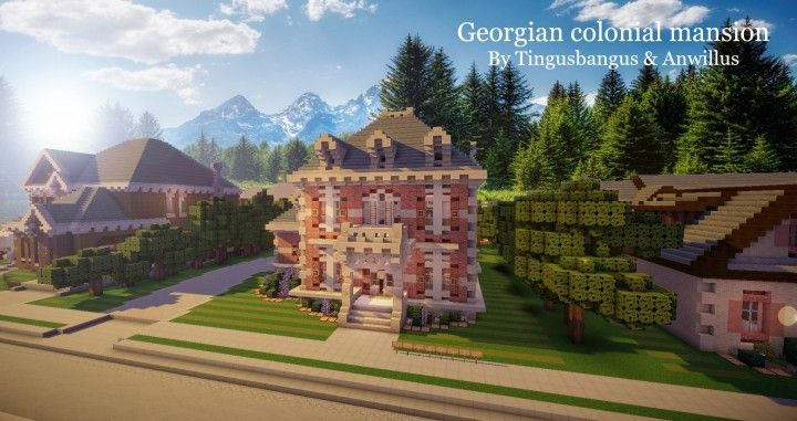 Georgian Colonial Mansion georgian colonial mansion|tma|wok [ft. anwillus] minecraft project