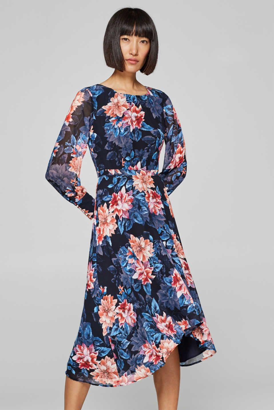 78130ea0 I Fashion Midi Kjole amp; Fint Style Chiffon Esprit Clothes Eqnw7446