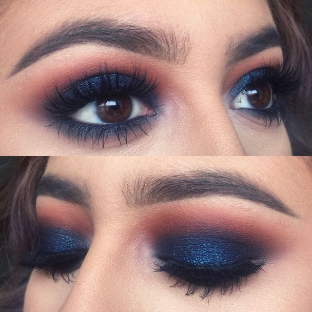 how to wear blue eyeshadow with blue eyes