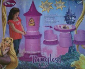 Amazon Com Disney Tangled Transforming Castle Table And
