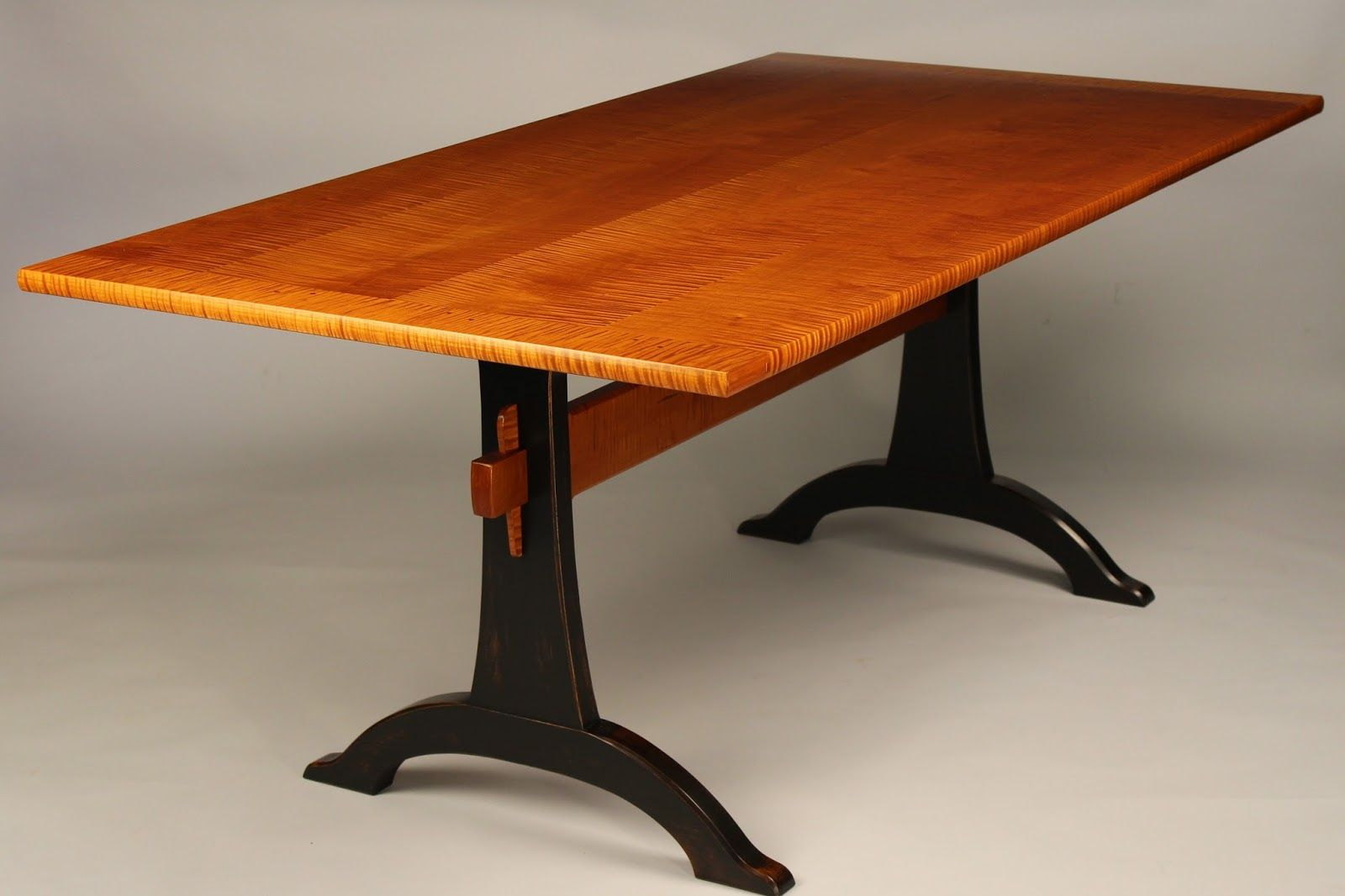 Walnut trestle dining table - Doucette And Wolfe Fine Furniture Makers Trestle Table