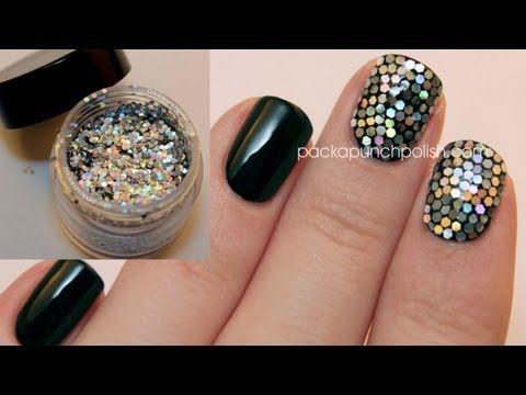Review And Tutorial Born Pretty Store Hex Glitter And Glitter