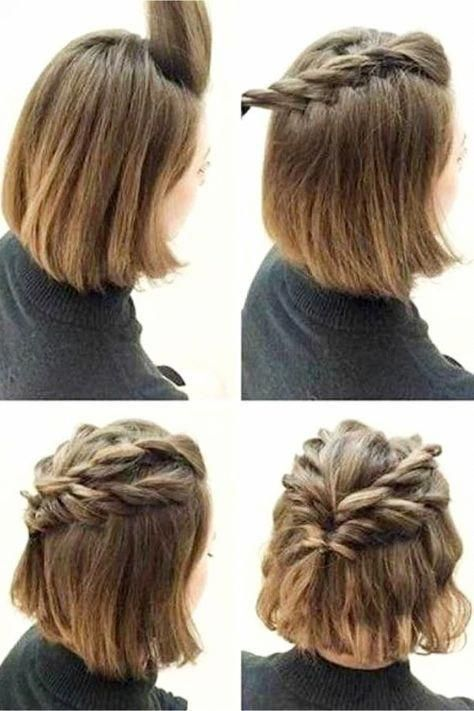 Easy hairstyles ideas for short hair   step by step video ...