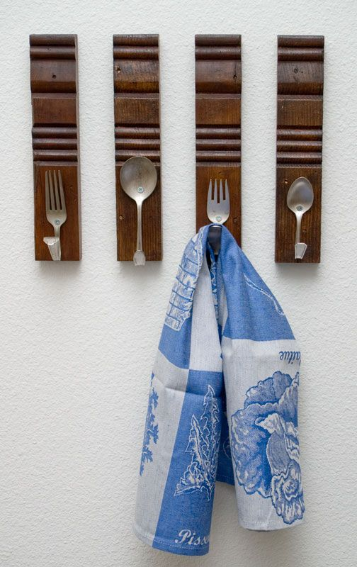 DONE: Diy Utensil Hooks   Hung My Vintage Thrift Store Hand Beater On One  One · Diy HooksTowel HooksKitchen ...