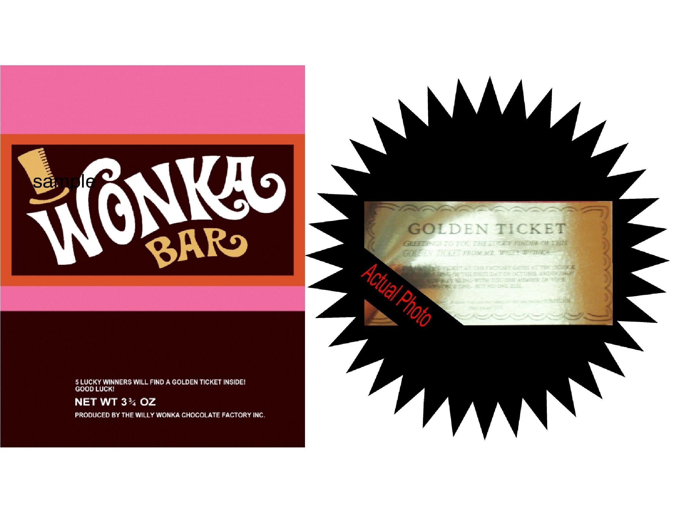 Willy Wonka Bar Invitations & Golden Tickets | Unique Invitations ...
