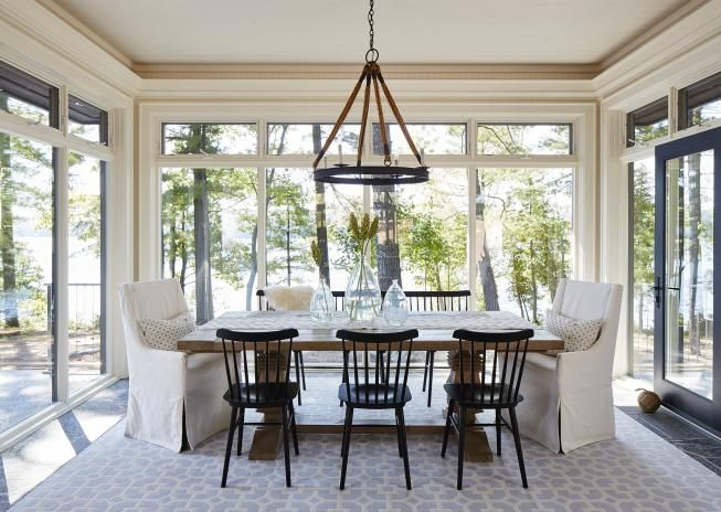Designer Natalie Hodgins Sarah Richardson Design Sunroom DiningDining RoomsBurlington