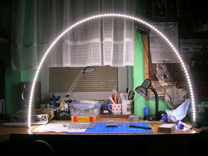Great Idea For Lighting A Workbench Led Strip On Piece Of
