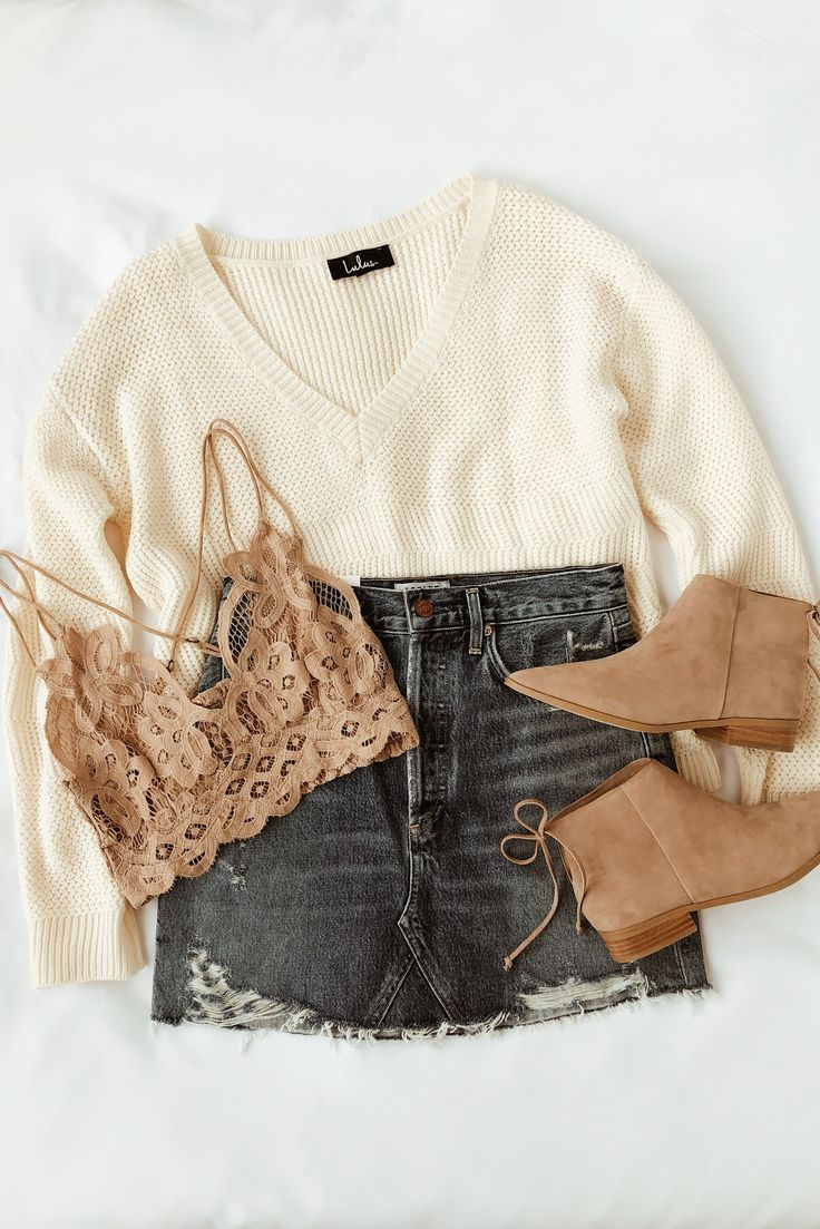 Cuddles and Kisses Cream V-Neck Knit Sweater