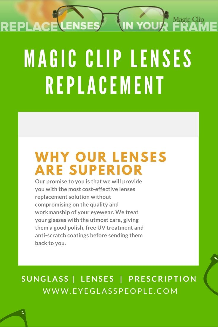 Have you damaged or lost a lens from your Magic Clip eyewear? Don\'t ...
