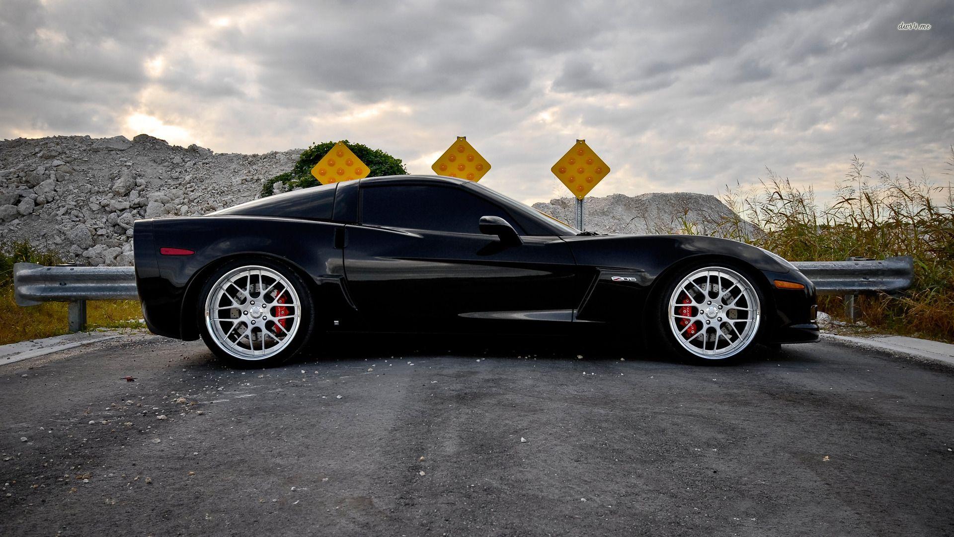 Chevrolet Corvette Z06 Hd Wallpaper Black Corvette Chevrolet