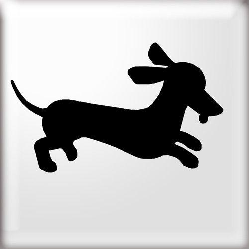 Dachshund Stencil Dog Silhouette Dog Quilts Dachshund