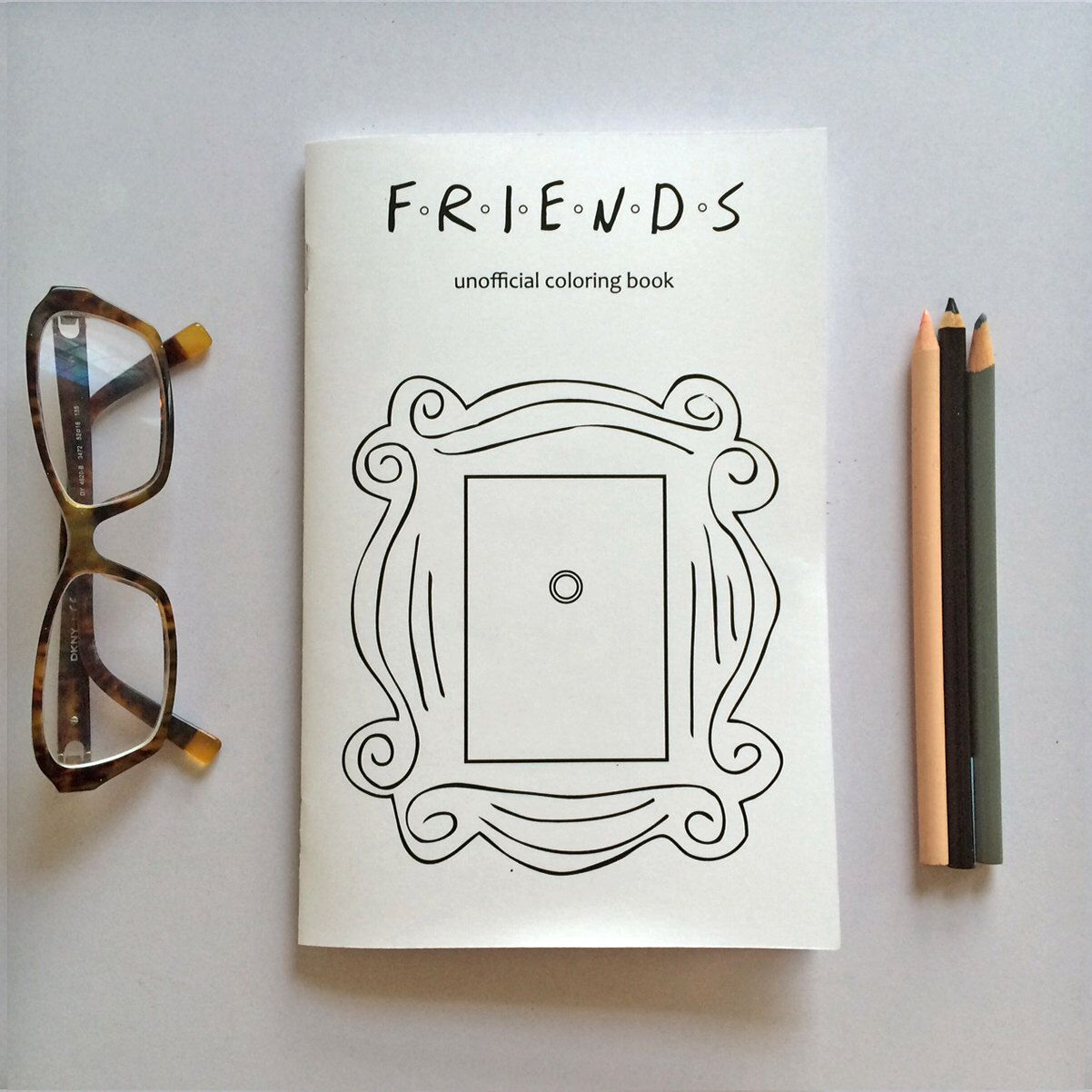 Friends Coloring Book Etsy Friends Sketch Coloring Books Friends Journal