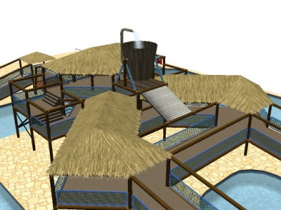 Custom Scenery Depot - Theme Park Games - Pool Structures | RCT3